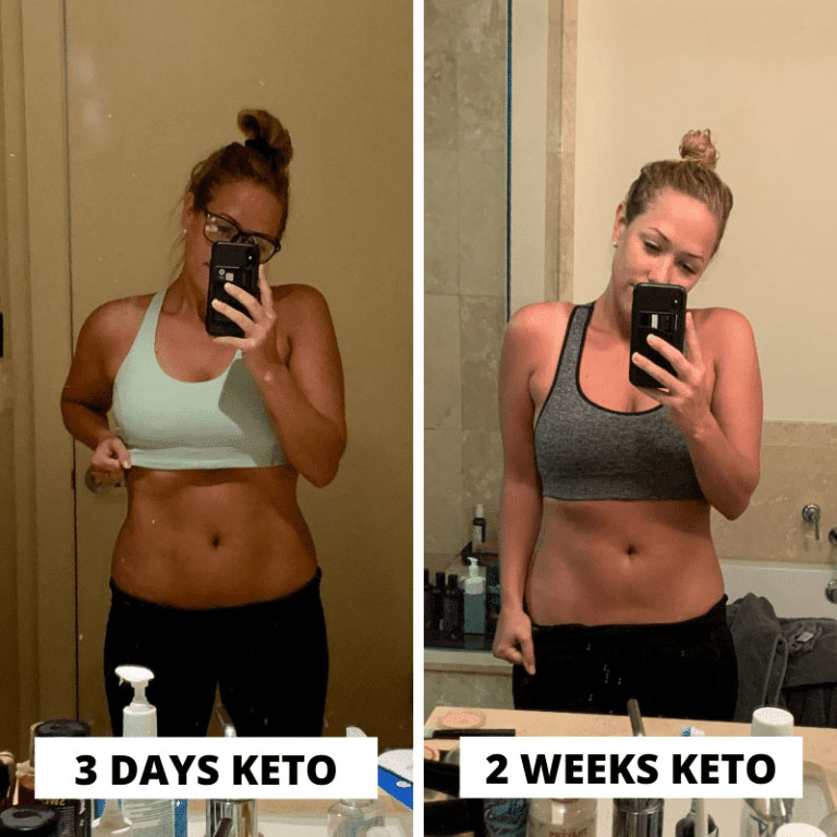keto diet results 2 weeks before and after