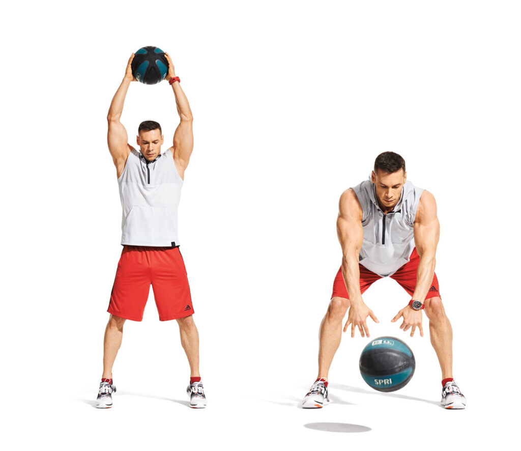 Overhead Medicine Ball Slams