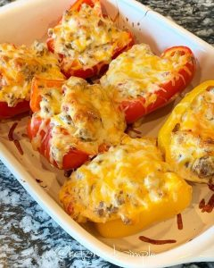 Sausage stuffed peppers!