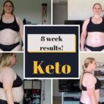 4 pics keto diet results week 8