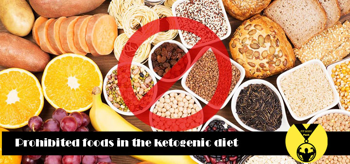 Prohibited foods in the ketogenic diet