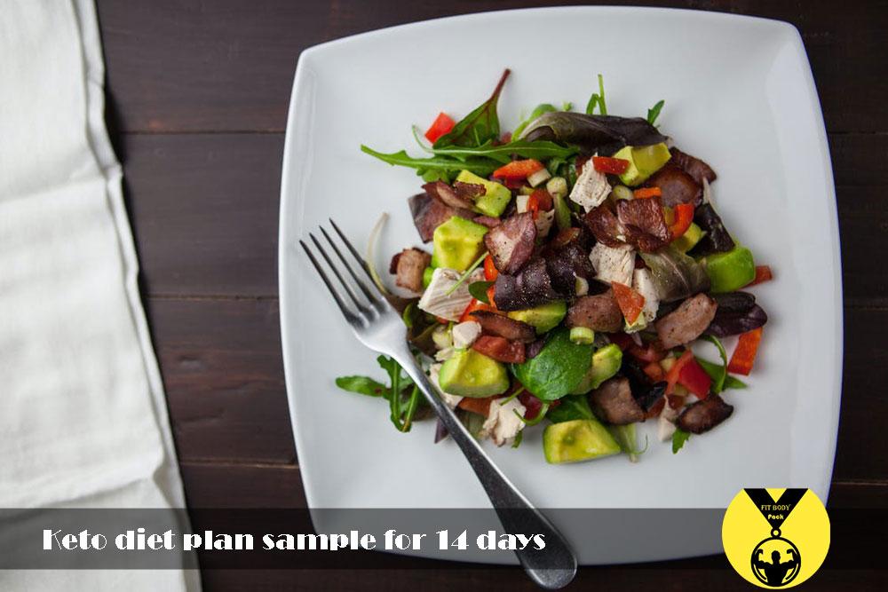 Keto diet plan sample for 14 days