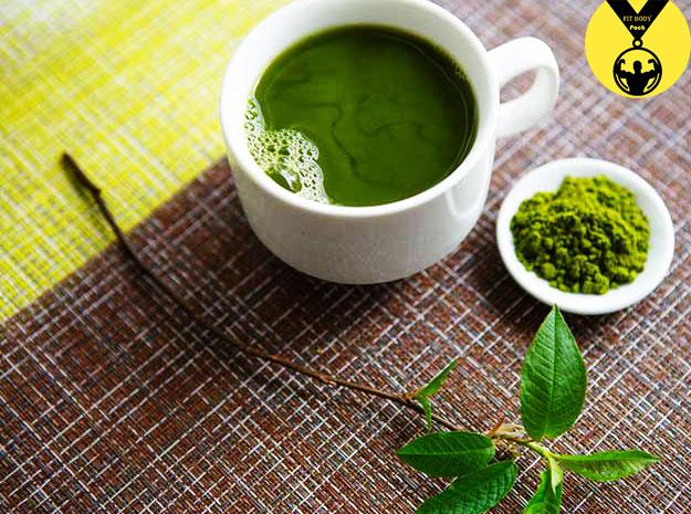 Celery slimming tea and green tea
